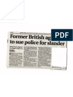 Former British Agent Martin McGartland Takes Legal Action Against Northumbria Police for their LIES, Smear and Dirty Tricks. It WAS Northumbria Police HQ who did it.