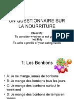 Un Questionnaire Sur La Nourriture[1]