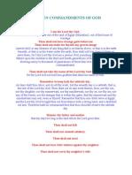 The Ten Commandments of God