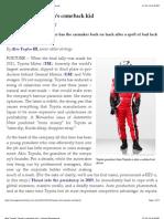 Toyota's Comeback Kid - Fortune Management