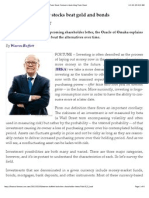 Warren Buffett- Why Stocks Beat Gold and Bonds