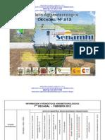 1er Decadal Nro. 212-Febrero 2012-Valles-La Paz Centro, Cochabamba Sucre, Tarija, Monteagudo Valle Grande