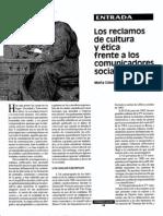 Los reclamos de cultura y ética frente a los comunicadores sociales - Marta Colomina
