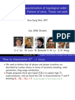 Xiao-Gang Wen- 'Complete' characterization of topological order