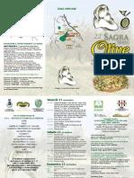 Programma XXII Sagra Delle Olive 2008