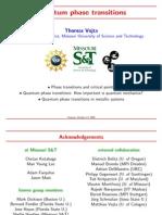 Thomas Vojta- Quantum phase transitions