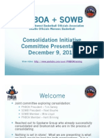 PNBOA + SOWB Merge/Consolidation Presentation Dec 9, 2011