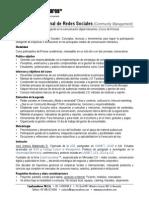 Curso Gestión de Redes Sociales (Community Managerment básico) - ficha descriptiva