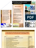 CENTRE FOR THE IMPROVEMENT OF WORKING CONDITIONS  AND ENVIRONMENT/ INDUSTRIAL RELATIONS INSTITUTE Training Calendar 2012