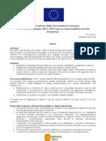 Comunicazione Commissione Europea RSI_ottobre 2011_Sintesi