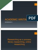 Academic Writing w2