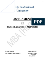PESTEL Analysis of Mcdonalds