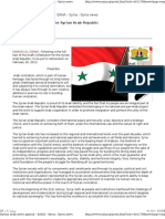 Syrian Draft Constitution 2012