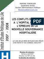 Les conflits d'acteurs à l'hopital public à l'épreuve de la nouvelle gouvernance hospitalière