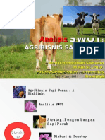Analisis SWOT Agribisnis Sapi Perah