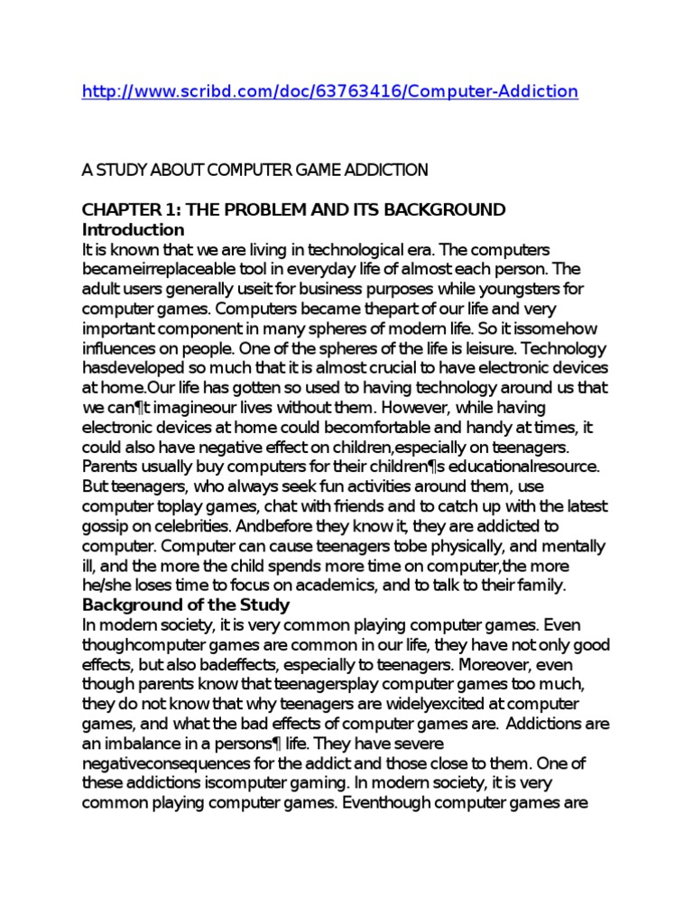 chapter 2 review related literature and studies about computer game addiction