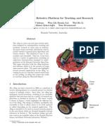 eBug - An Open Robotics Platform for Teaching and Research
