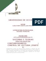Sistemas y Teorias Psicologicos Contemporaneos Control de Lectura Parte 1
