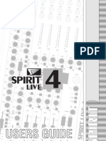 Spirit Live4 User Guide