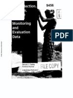 The Collection and Use of Monitoring and Evaluation Data - Caisley Kumar