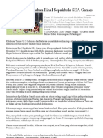 Penyebab Kekalahan Final Sepakbola SEA Games