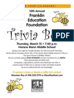 FEF Trivia Bee Flyer 2012