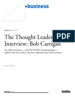 Thought Leader Interview Bob Carrigan