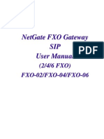 NetGate FXO SIP Manual