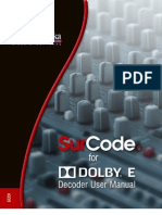 SurCode for Dolby E Decoder Manual