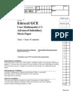 C1 Mock Paper Exam Paper[1]