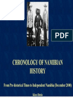 Chronological History of Namibia - Klaus Dierks