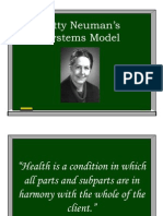 Betty Neuman's Systems Model