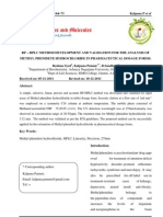 RP-HPLC Method Development and Validation for the Analysis of Methyl Phenidete Hydro Chloride in Pharmaceutical Dosage Forms