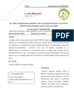 RP-HPLC Method Development and Validation for the Analysis of Tenofovuir in Pharmaceutical Dosage Forms