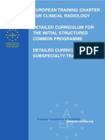 Charter and Currcula Radiology European