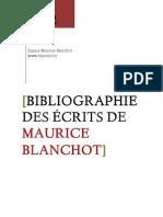 Bibliographie des écrits de Maurice Blanchot