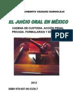 EL JUICIO ORAL EN MÉXICO, CADENA DE CUSTODIA, ACCIÓN PENAL PRIVADA, FORMULARIOS Y ESQUEMAS