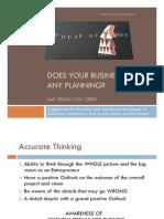 UCS Business Planning LV 11 2009