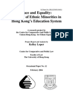 Race and Equality - A Study of Ethnic Minorities in Hong Kong's Education System.