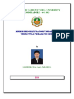 Certification Procedure for Vegetatively Propagated Crops