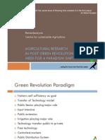 120217 Agri Research in Post Green Revolution Era