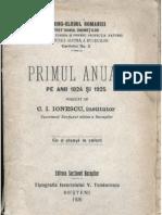 TCR - Primul Anuar Al Bucegilor (1926)