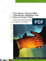 M&a 7 Critical Mistakes