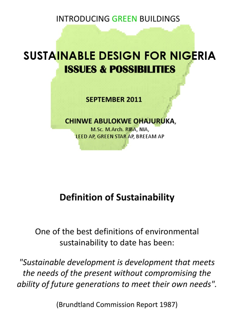 green buildings for nigeria | green building | sustainability