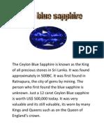 The Ceylon Blue Sapphire