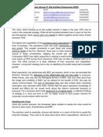 Case Analysis (Group 7) Raj Vardhan Enterprises