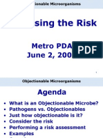 PDA June 2_ Settineri2009 Objectionable Microorganisms
