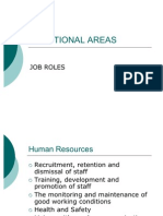 JOB ROLES - Functional Areas