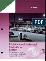 GE Multi Vapor Horizontal Lamps 9-89