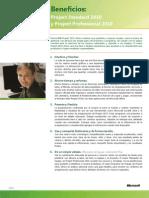 Beneficios de Project Standard y Professional 2010